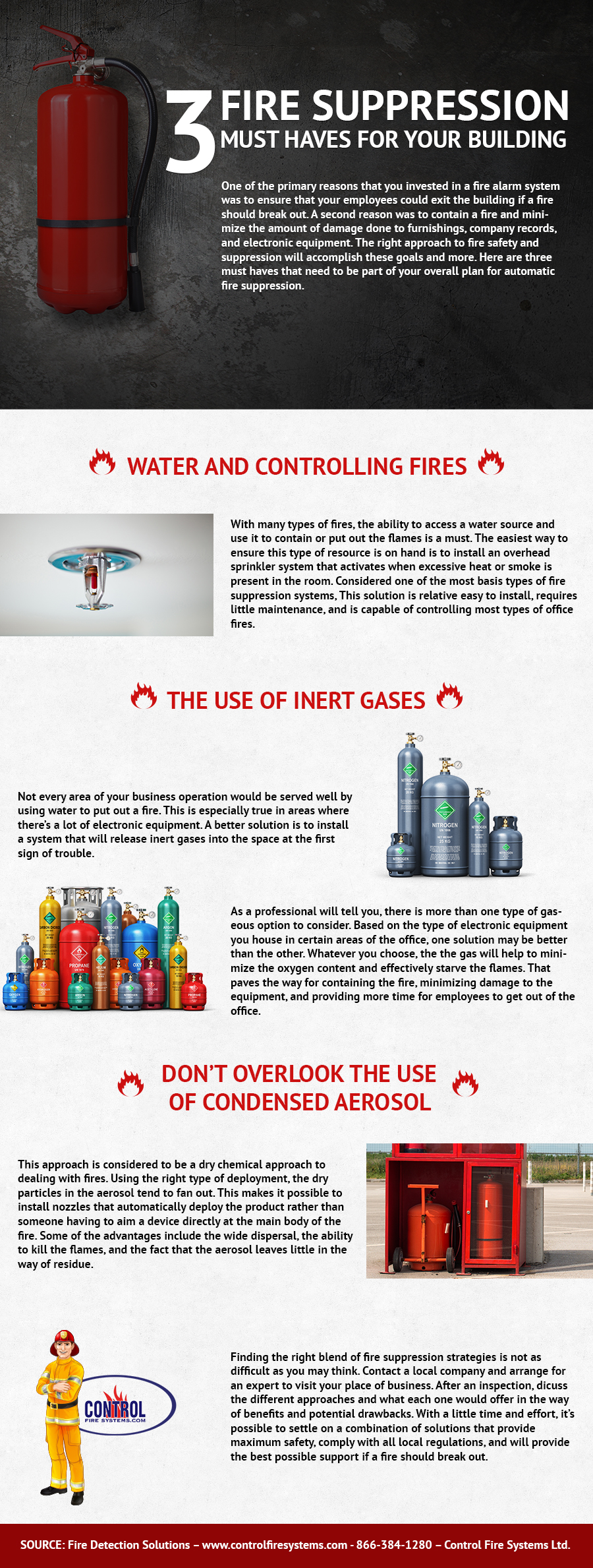 3 Fire Suppression Must Haves for Your Building - Control Fire Systems Ifographic