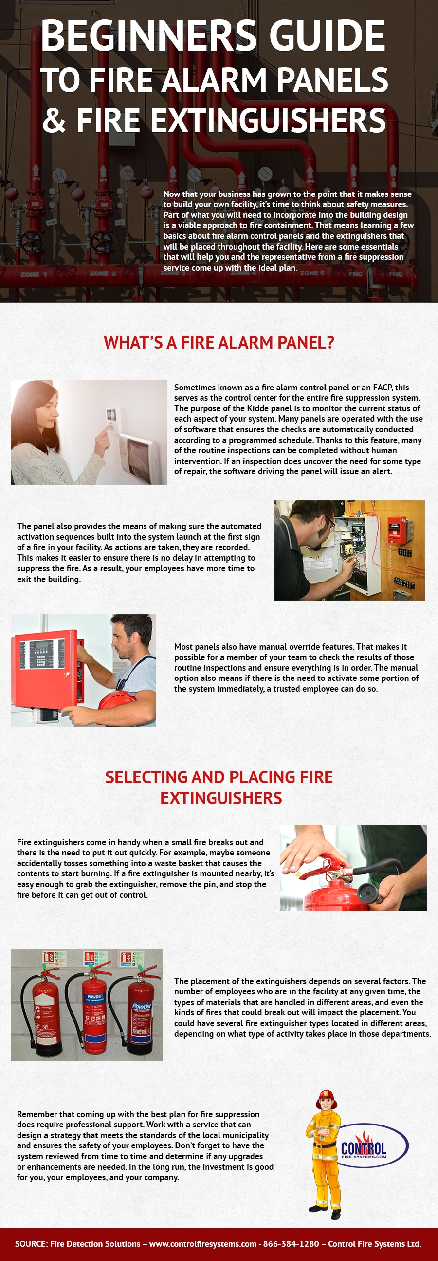 Beginners Guide to Fire Alarm Panels & Fire Extinguishers - Control Fire Systems Ifographic