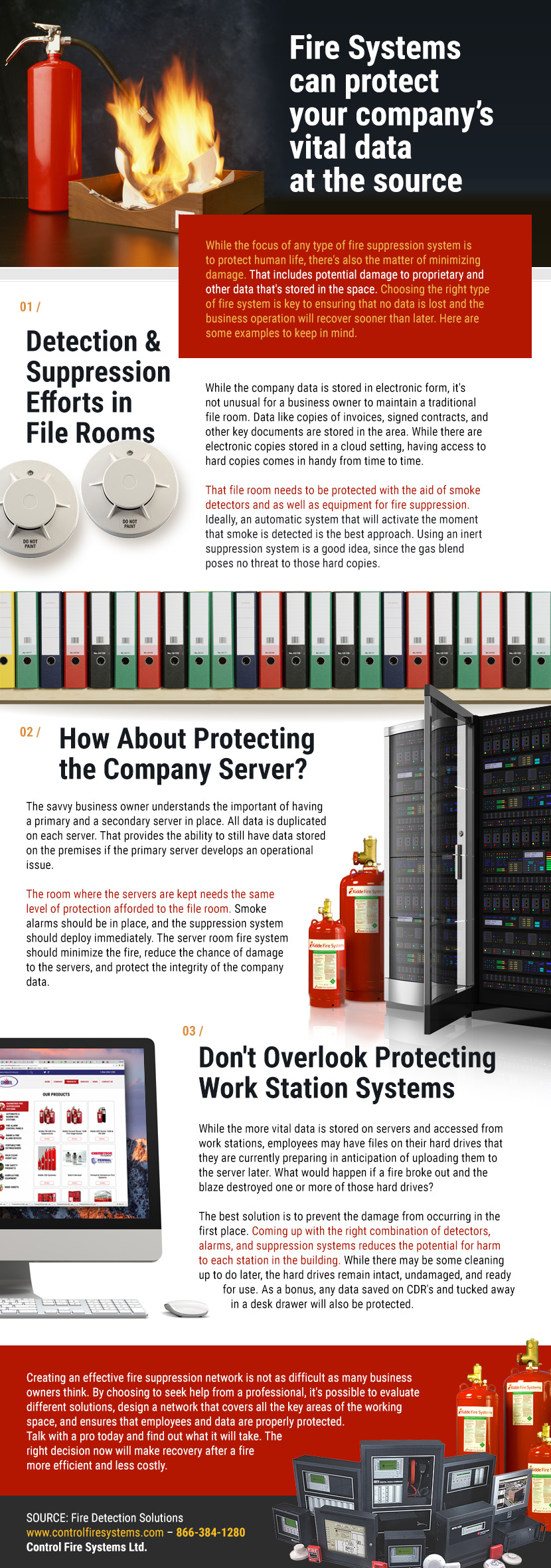 Fire Systems Can Protect Your Company's Vital Data at the Source - Control Fire Systems Ifographic
